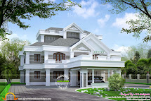 Super Luxury Residence Elevation - Kerala Home Design And