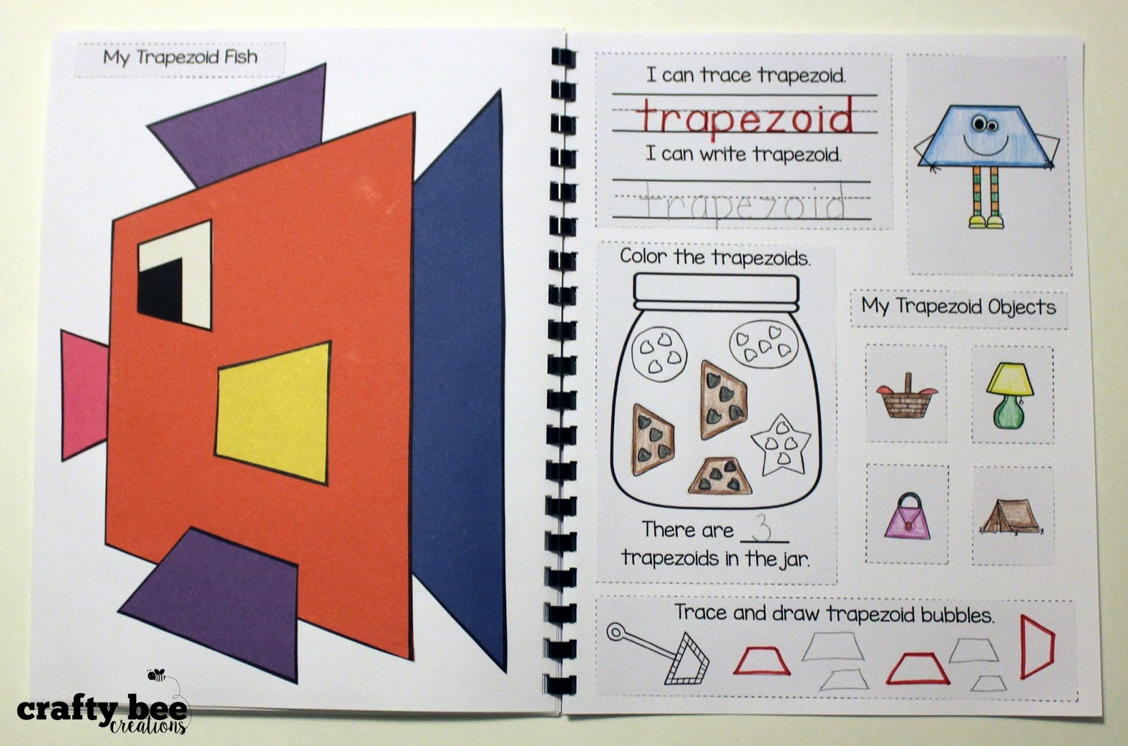 Crafty Bee Creations Interactive Shape Notebook