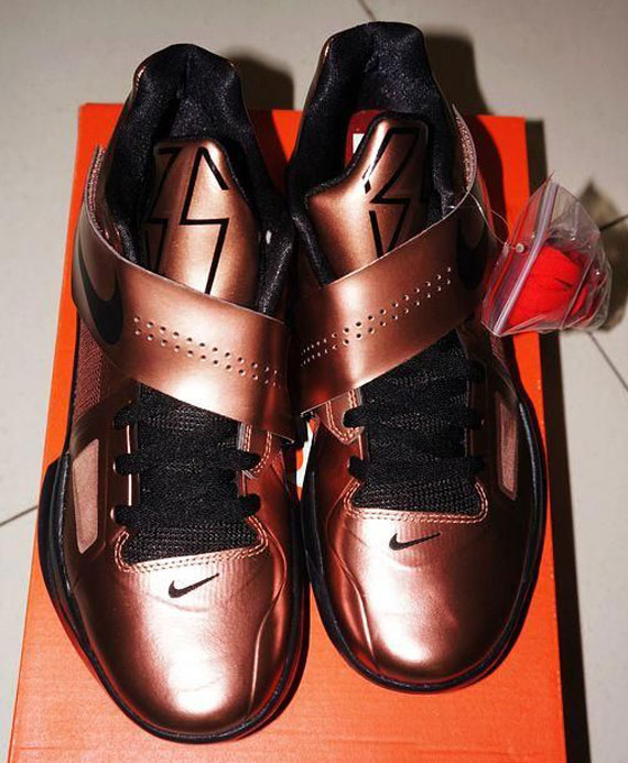 outlet store 6a9ac c7cba ... Nike Zoom KD IV  Christmas  shoe in copper black colorway. This year,  the THEME of the Nike Basketball Christmas offering is not as uniformed as  last ...