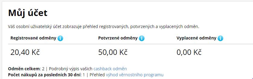 d82273cd69a Já si nakoupila na eshopu www.krasa.cz, kde dávají 5% z nákupu zpět. Jak  vidíte já získala za nákup 20,40,- Kč zpět a to se vyplatí.