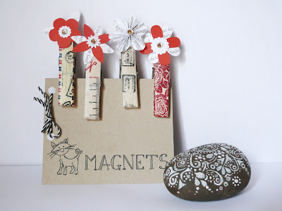 DIY, Clothespins,  Magnets, Cameo Silhouette, Embellishments, Washi Tape, Eccentric Eclectic Studio, Craft,