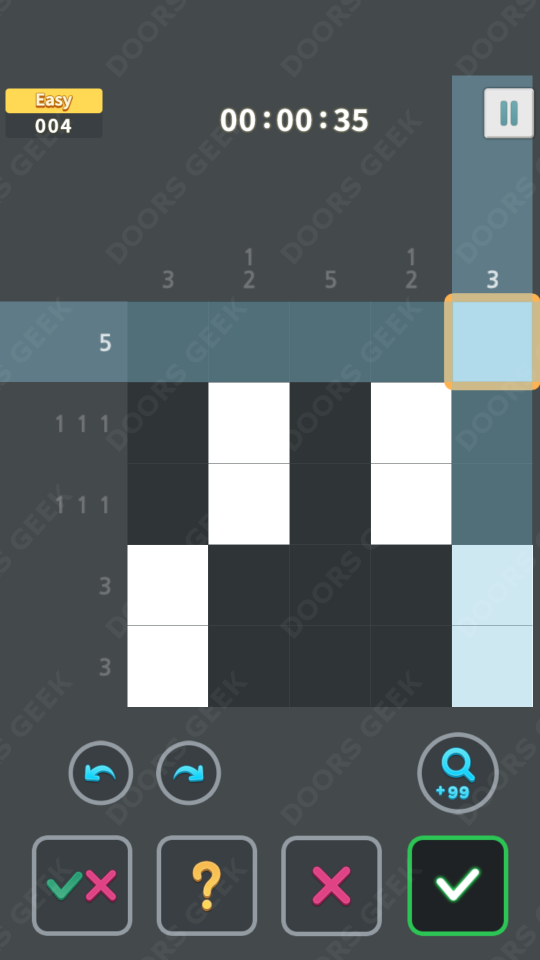 Nonogram King Easy Level 4 Solution, Cheats, Walkthrough for Android, iPhone, iPad and iPod