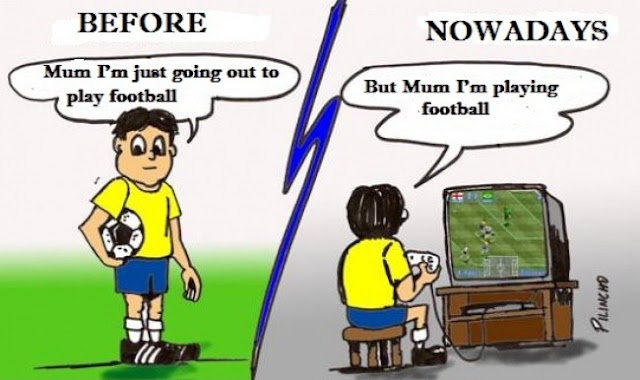 Playing Football Then and Now