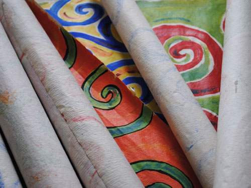 swirl painting rolls