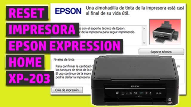 Reset impresora EPSON Expression Home XP-203