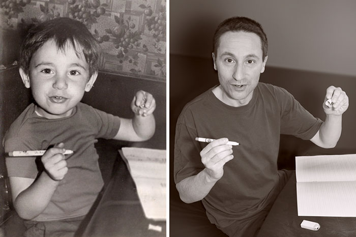 30 Beautiful Recreations Of Childhood Pictures - Still A Graphic Designer 42 Years Later