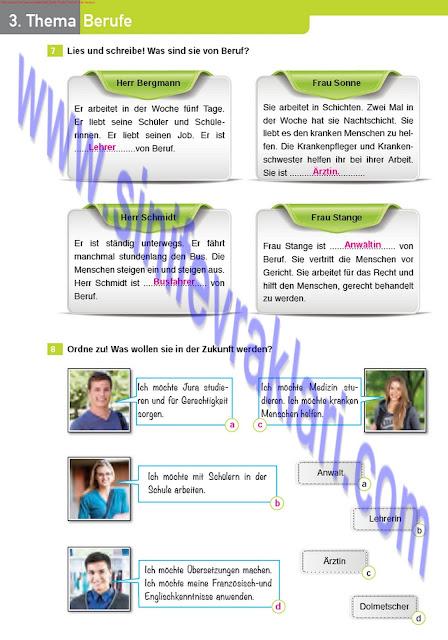 Almanca A1.2 Çıpa Yayınları Çalışma Kitabı Cevapları Sayfa 32