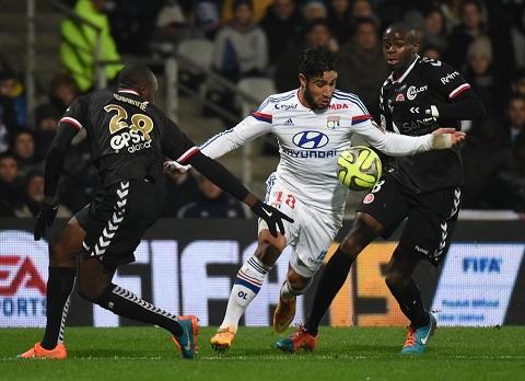 Nhận địn trận đấu của Reims vs Lyon