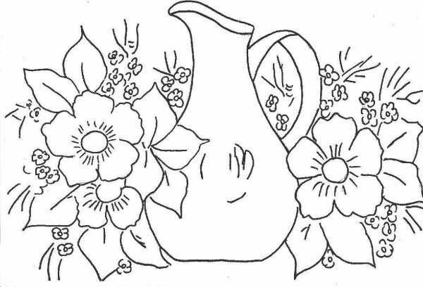 Imagenes De Flores Para Dibujar En Tela