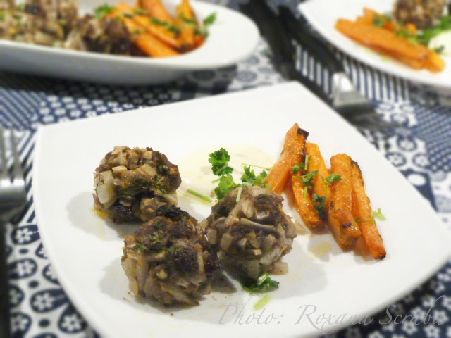 Chiftelute marocane cu morcovi la cuptor