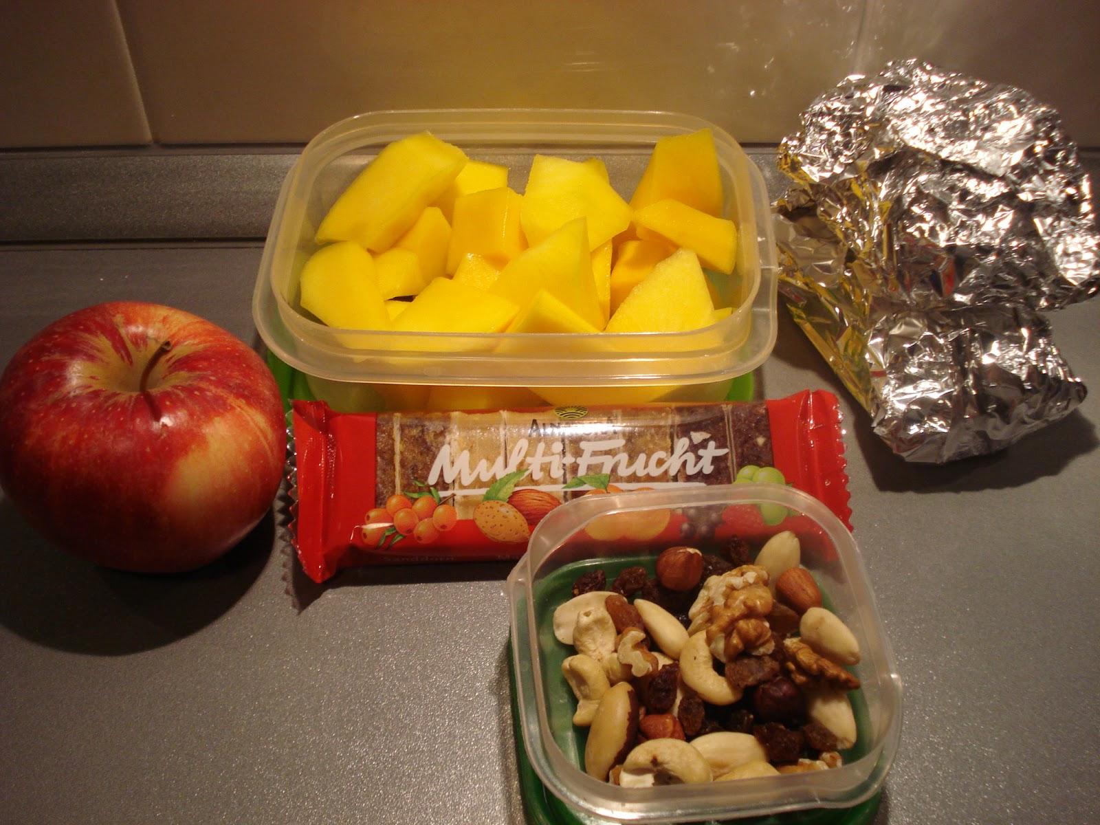 Gesunde Snacks Arbeit