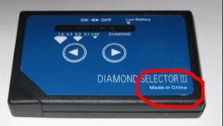 testador de diamante selector fake