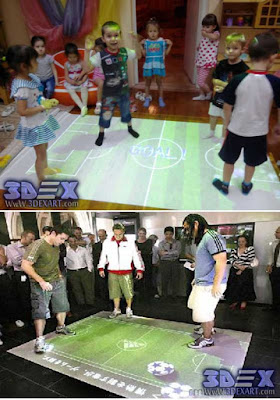 interactive floor projector for kids games and guys play football