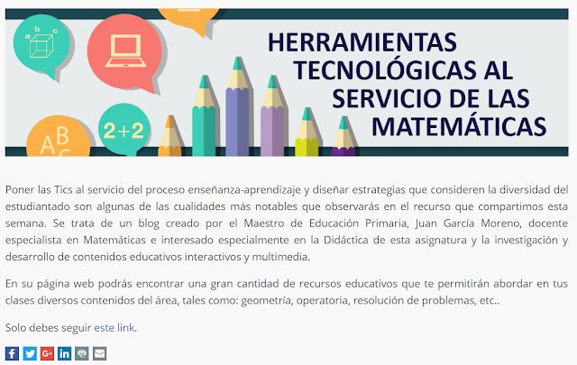 Herramientas tecnológicas al servicio de las matemáticas.