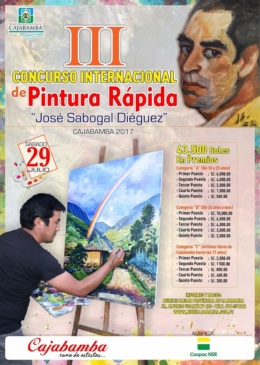 III Concurso Internacional de Pintura Rápida en Cajabamba