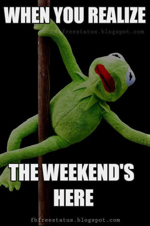 Happy Weekend Memes, When You Realize The Weekend's Here.