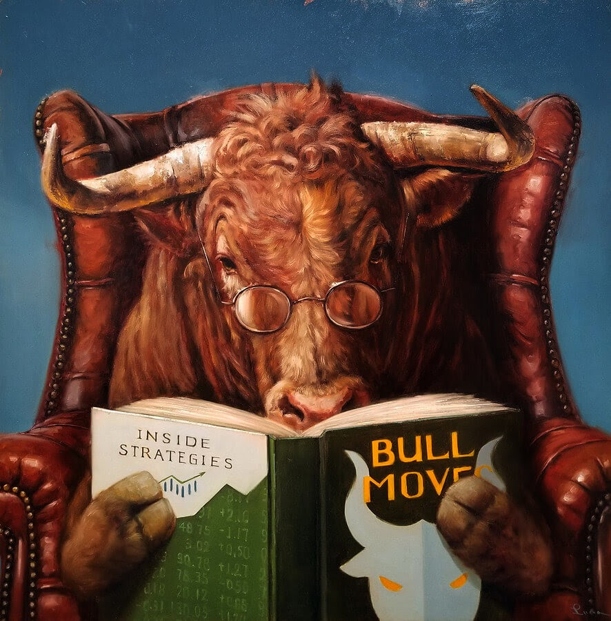 11-Bull-Market-Lucia-Heffernan-Oil-Paintings-www-designstack-co