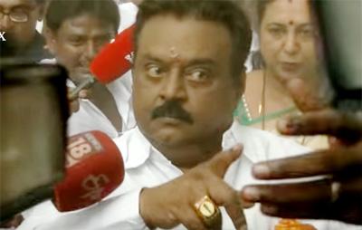 Vijayakanth Getting Angry At Polling Booth – Vijayakanth Comedy