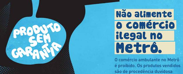 Metrô de SP culpa crise econômica pela grande concentração de ambulantes