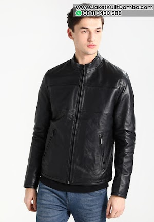 Beli Jaket Kulit Domba Super Asli Garut Pria Hitam Model Terbaru Brida Leather