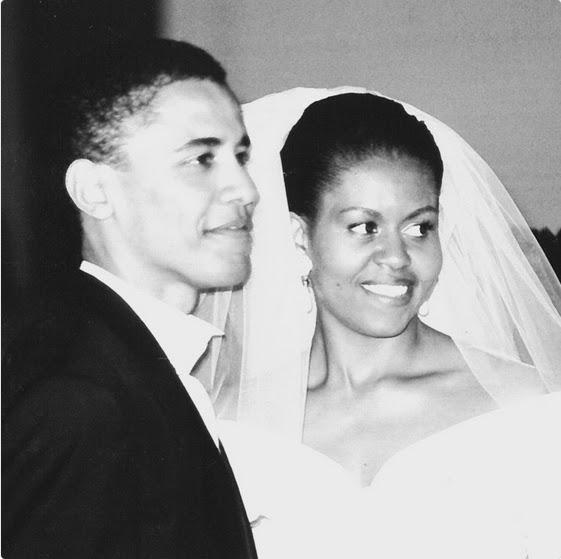 Barack-Michelle-Obama-throwback-wedding-photo