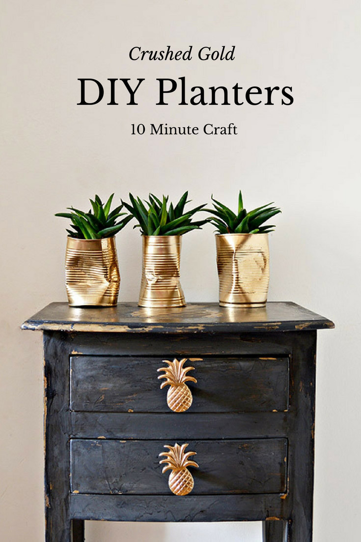 ... Alice chose Easy Gold Crushed Can DIY Planters from Pillar Box Blue