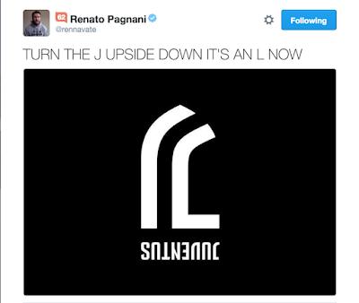 Logo Juventus baru pabila diphotostat terbalik
