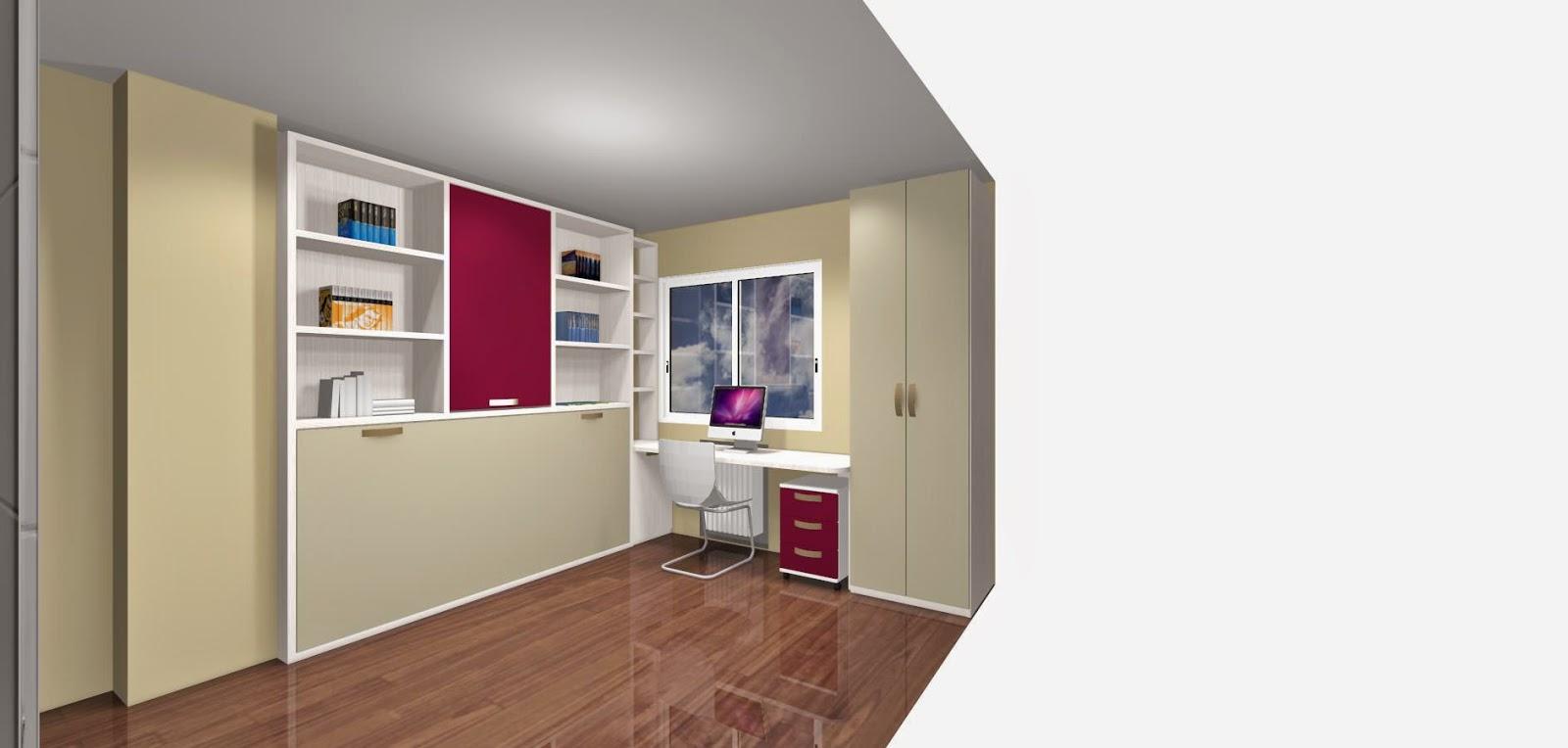 Como ahorrar espacio con camas abatibles para habitaciones for Mueble salon 2 metros