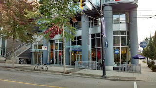 Waves Coffee Storefront at Robson & Cambie Streets