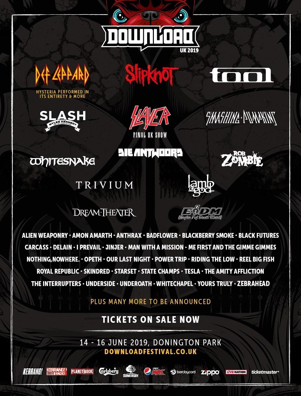 Underside To Bang On Download Fest UK Alongside Slipknot, Def Leppard, Tool, Lamb of God, Slayer 2
