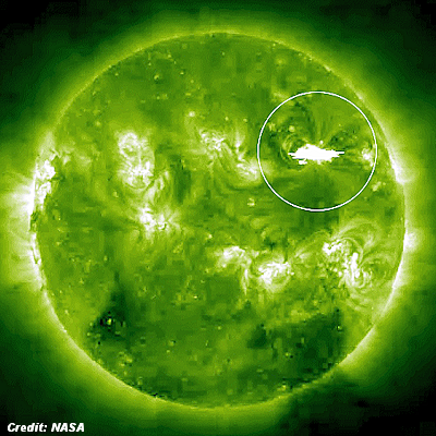 Huge Coronal Mass Ejection (CME) Headed Towrds Earth