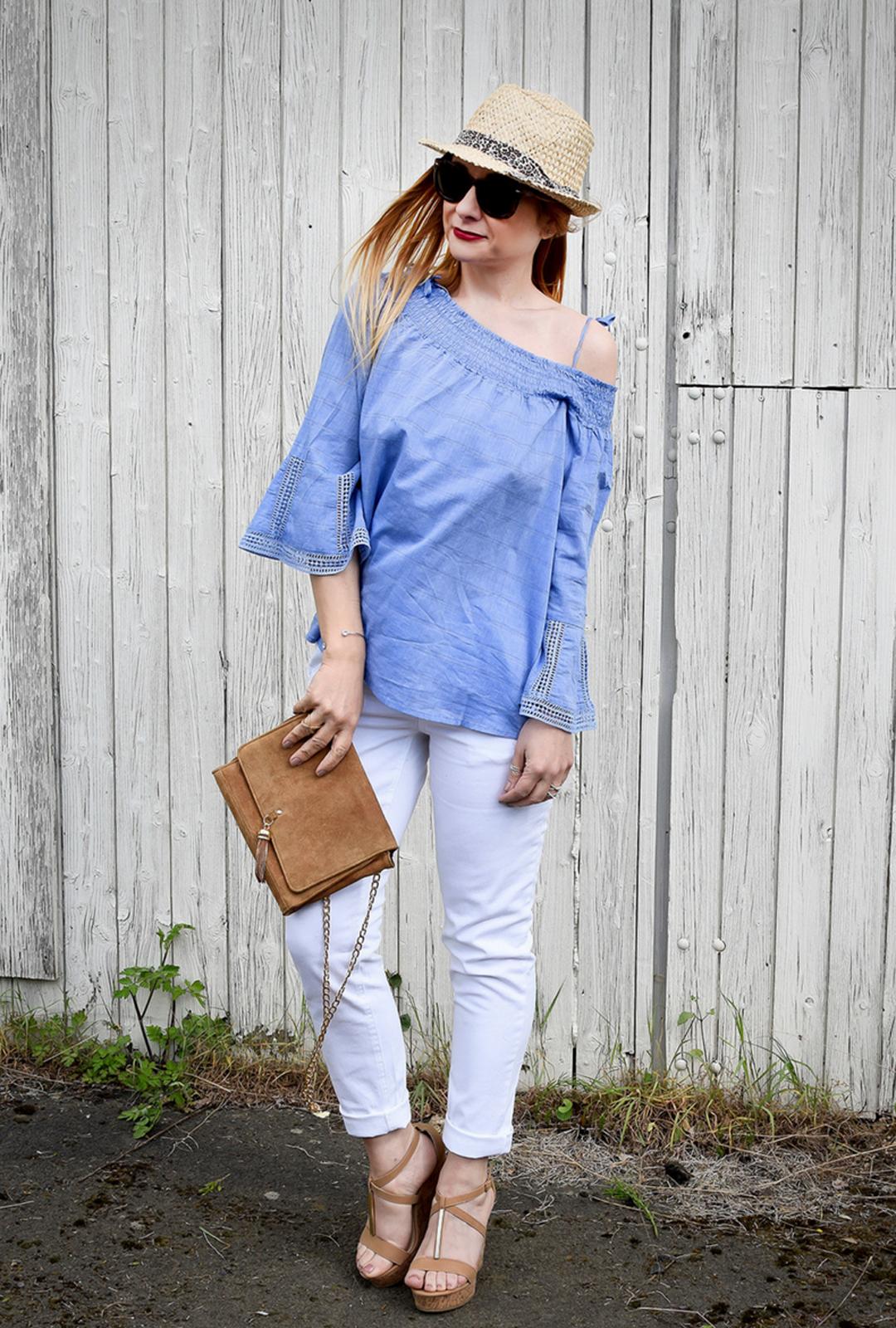 weiße Jeans von Tchibo, Tchibo Luftig und Leger
