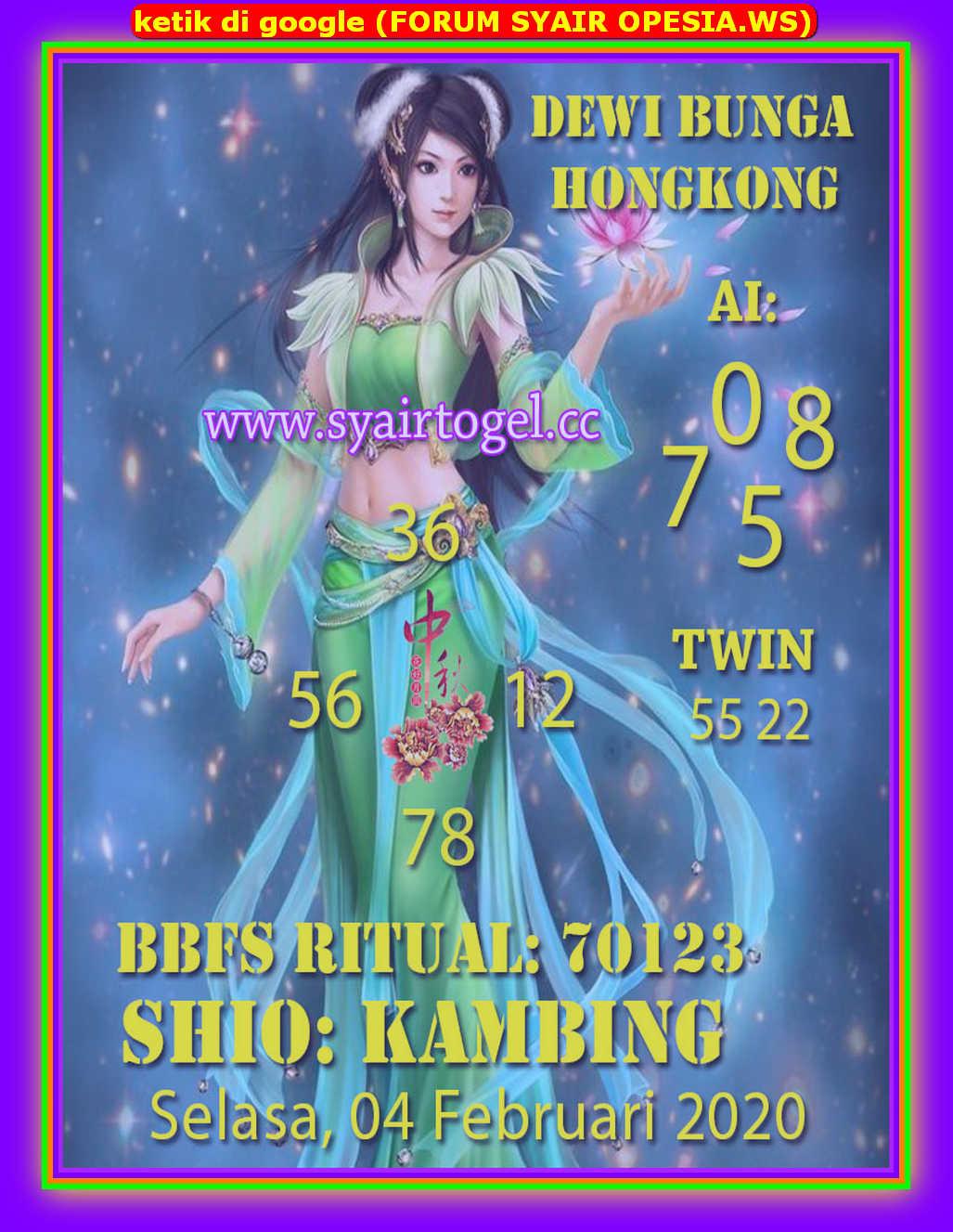 Kode syair Hongkong Selasa 4 Februari 2020 131