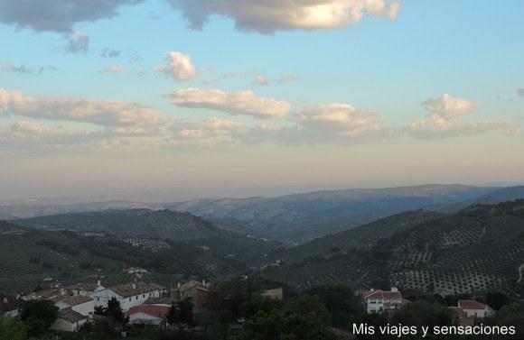 Vistas desde la habitación, Hotel el Curro, Burunchel, Jaén