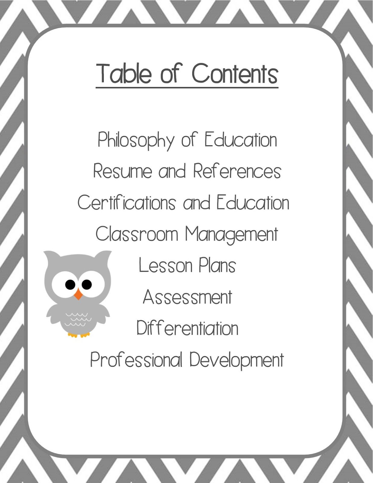 Owl Ways Good Teaching My Teaching Portfolio