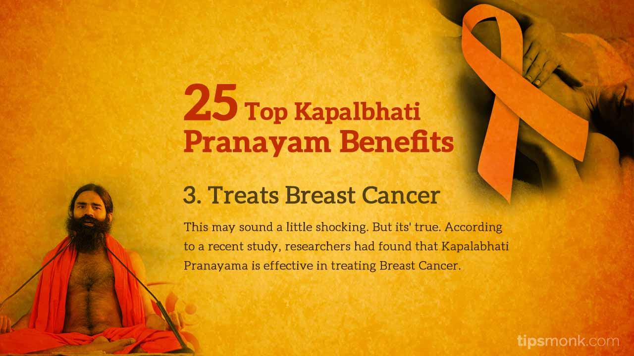 Kapalbhati pranayam benefits - Breast Cancer