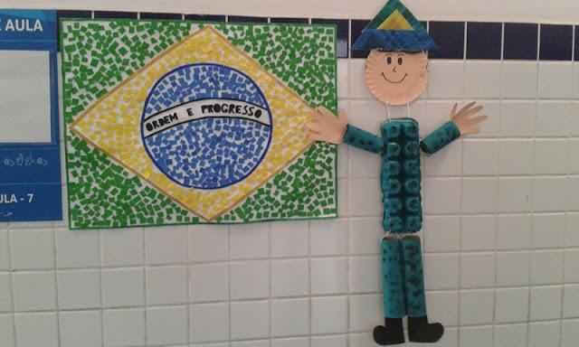 Mostra de trabalho Semana da Pátria Educação Infantil