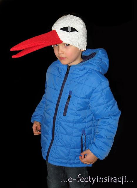 czapka dla bociana