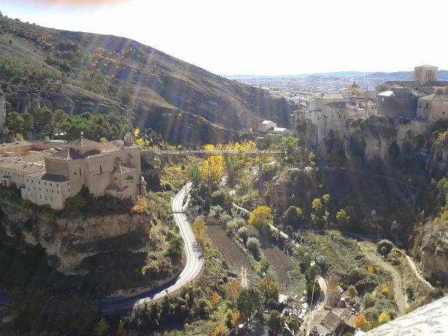 Vistas desde el barrio del Castillo de Cuenca