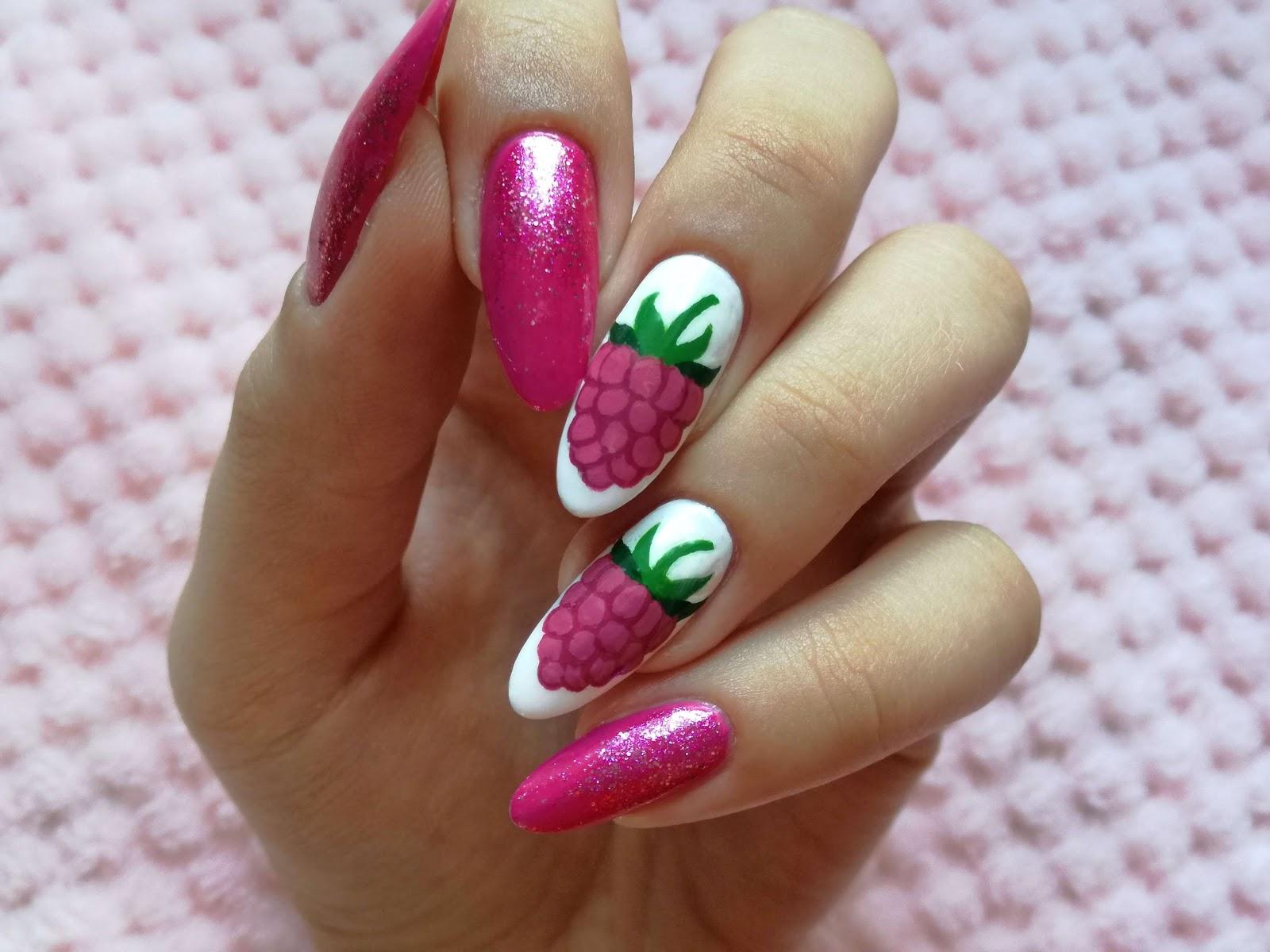 malinowe paznokcie malinaila