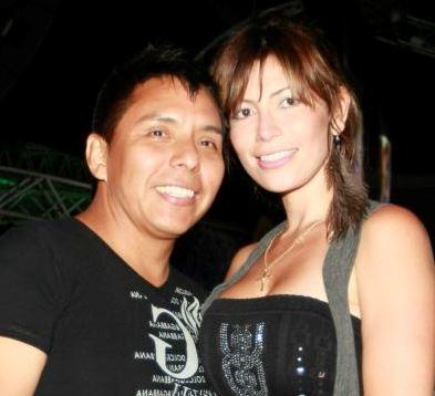 Foto de Milena Zárate feliz con Edwin Sierra