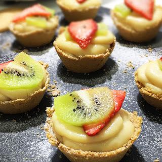 Tartaletas de Crema y Fruta | Sin Horno