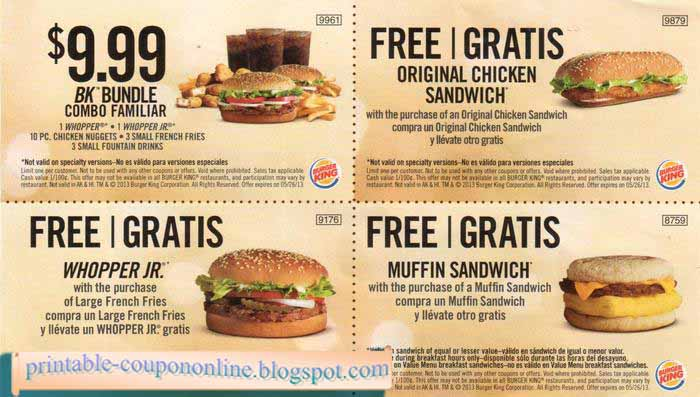 Burger king coupons nz 2018