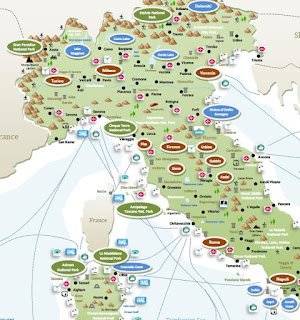 interactive travel tourist map ITALY