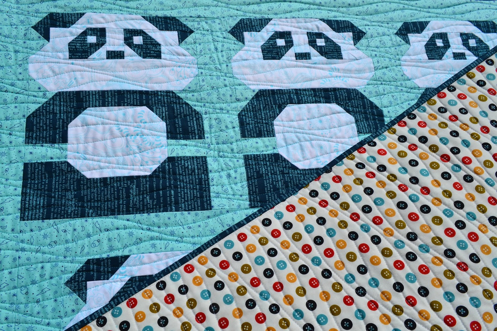 Sew Fresh Quilts: Panda Please - a baby boy quilt : what is quilt used for - Adamdwight.com