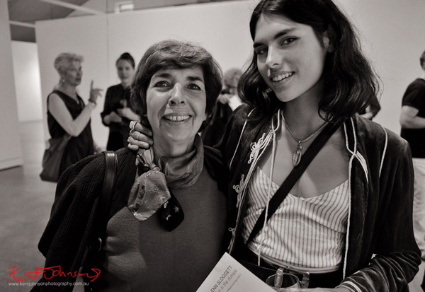 Mother and daughter, opening night at Stills Gallery. Photographed by Kent Johnson for Street Fashion Sydney.