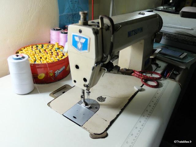 machine à coudre mitsubishi tailleur hoi an vietnam