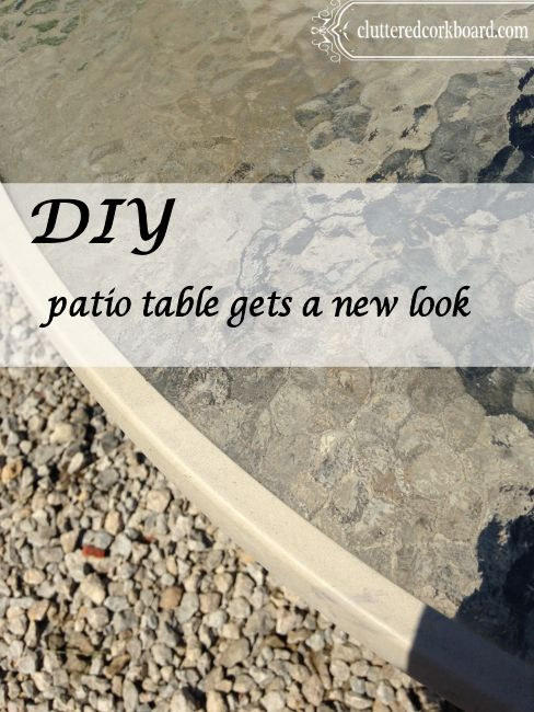... Spray Painting A Glass Top Patio Diy Patio Table Gets A New Look  Cluttered Corkboard I Took The Legs Off The The ...