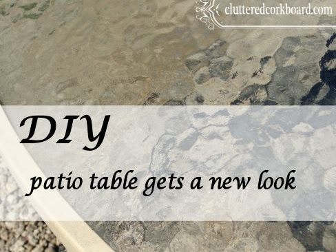 DIY Patio Table gets a new look