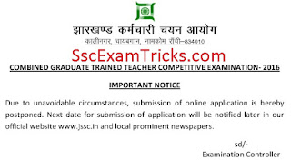 JSSC Teacher Latest Notice
